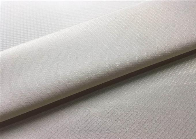 0.15*0.18 Ribstop Recycled Plastic Bottle Fabric Environmental For Sports Wear