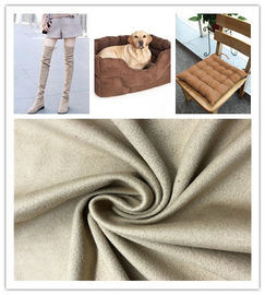 Strong Stability Fake Suede Fabric Good Drape Property No Shrinkage Or Elongation