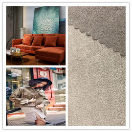 91% P 9% SP Faux Suede Fabric Fade Resistant Breathable Soft For Home Decoration