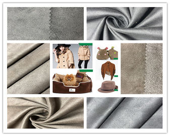 Customize Color Faux Suede Fabric For Clothing , 105D Stretchable Suede Fabric