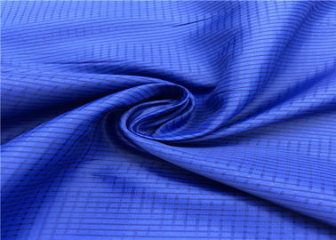 100% Polyester Anti Static Lining Fabric Lattice Pattern With High Color Fastness