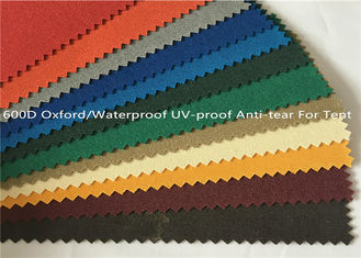 China Anti Tear Oxford Fabric Waterproof , Yarn - Dyed UV Proof 600 Denier Oxford Fabric supplier