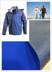 Skiing Wear Soft Nylon Taslon Fabric Water Repellent Dyed Bonding With Tricot