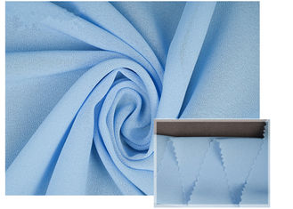100% Polyester Soft Light Blue Chiffon Fabric Breathable For Summer Dress / Pants