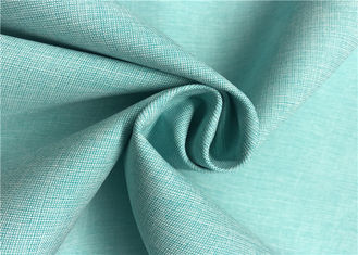 Two Tone Look Comfortable Polyester Cationic Fabric , Waterproof Polyester Fabric