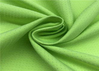 Comfortableful 100% P Breathable Outdoor Fabric , Green Water Resistant Fabric